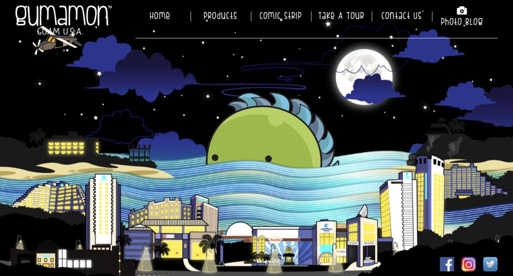 Screenshot of Gumamon's front page
